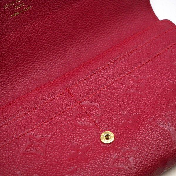 【中古美品】LOUIS VUITTON(ルイ ヴィトン) アンプラント ポルトフォイユ・サラ 長財布 レディース レッド M61181