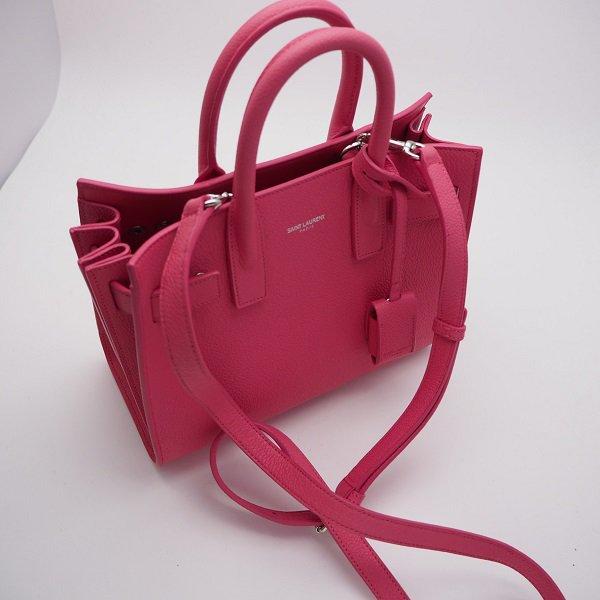 【未使用】SAINT LAURENT PARIS(サンローラン パリ) クラシック ナノ サックドジュール 2WAY バッグ ピンク