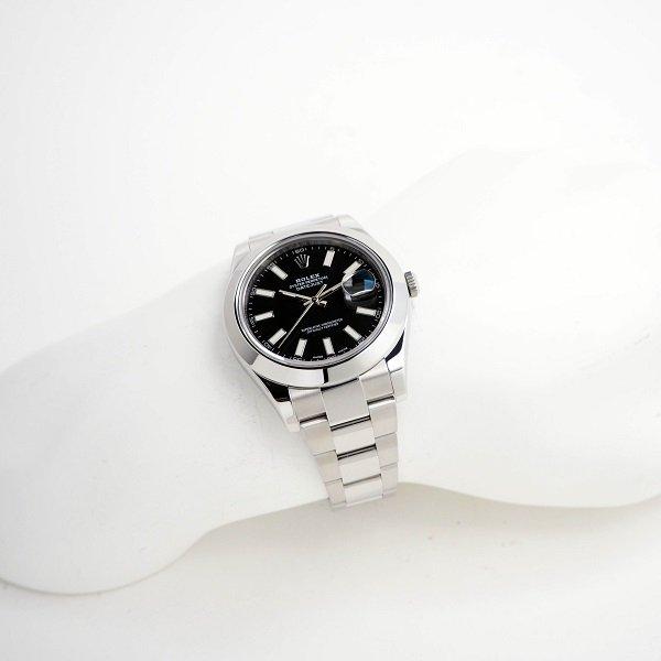 【外装仕上済】【中古】ROLEX(ロレックス) デイトジャストII ブラック 116300