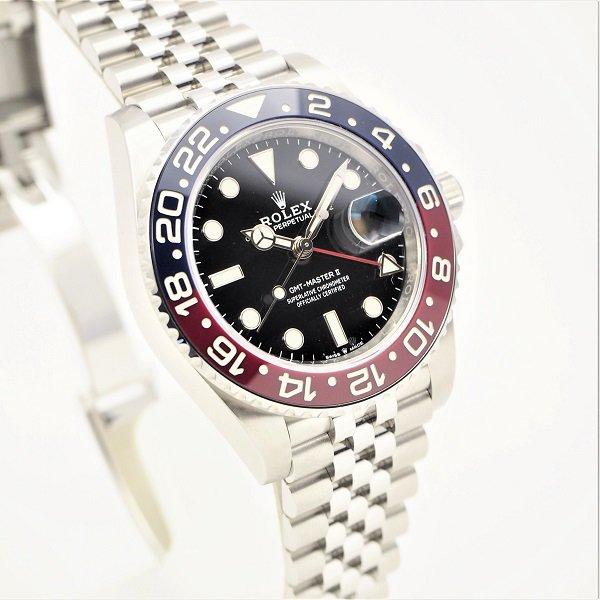 【中古】ROLEX(ロレックス) GMTマスターII ブラック 赤×青ベゼル ジュビリーブレス 126710BLRO