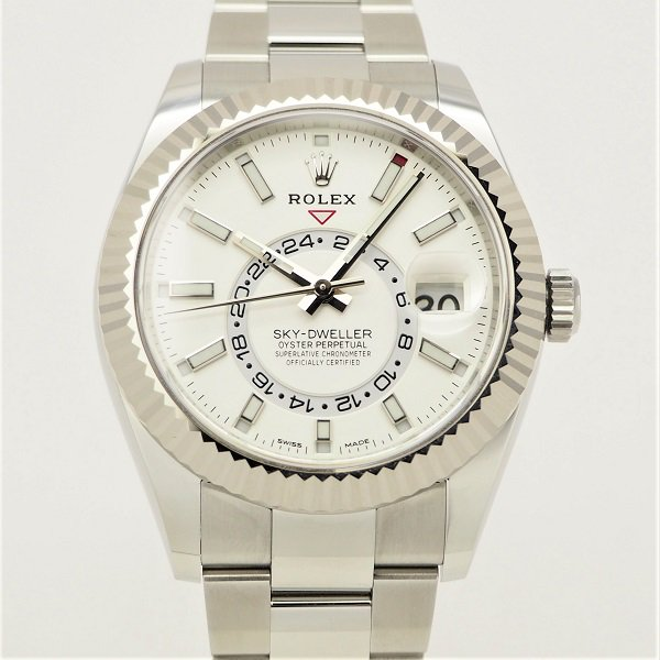 【中古】ROLEX(ロレックス) スカイドゥエラー ホワイト ホワイトロレゾール 326934