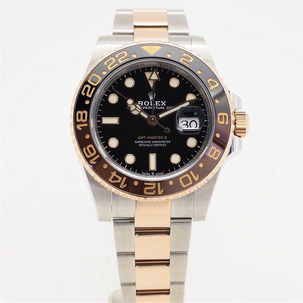 【中古】 ROLEX (ロレックス) GMTマスターII RG コンビ ランダム品番 Ref:126711CHNR