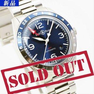 【新品】Bell&Ross(ベル&ロス)ヴィンテージ BR V2-93 GMT ブルー BRV293-BLU-ST/SST 【WEB限定商品】