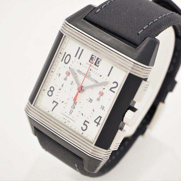【中古】JAEGER LECOULTRE(ジャガー・ルクルト) レベルソ スクアドラ クロノグラフ GMT KenClub25周年記念 25本限定モデル 230.N.45