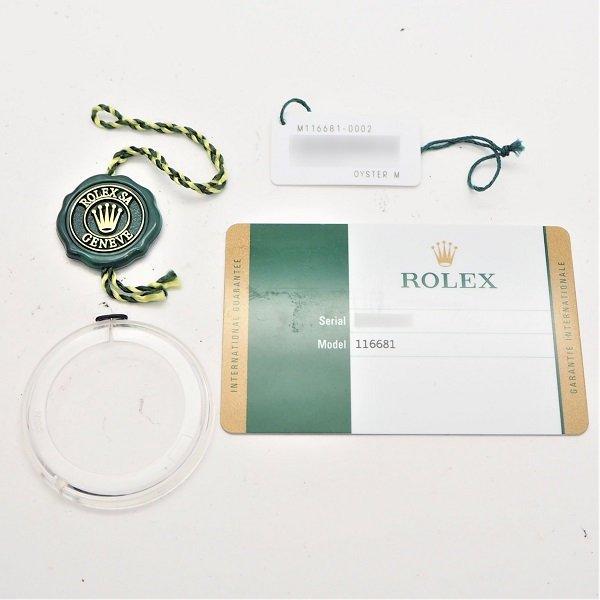 【中古】ROLEX(ロレックス) ヨットマスターII エバーローズロレゾール Ref:116681 ランダム品番