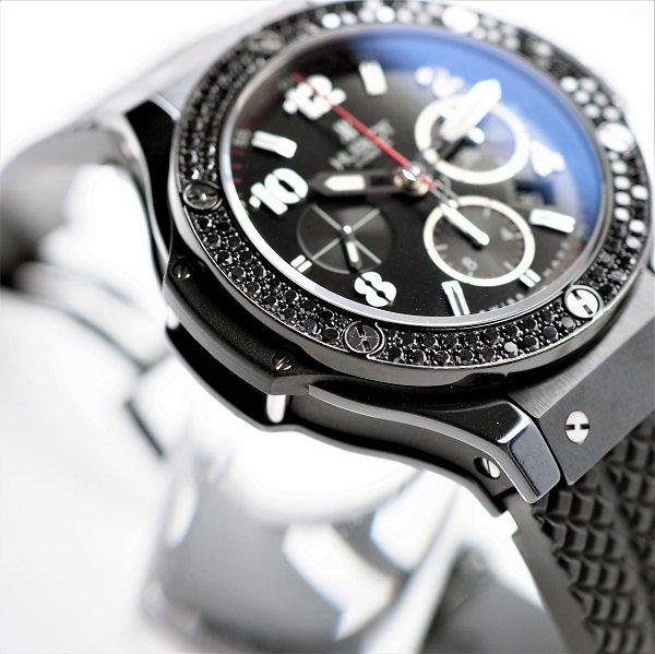 【中古】HUBLOT(ウブロ) ビッグバン ブラックマジック ブラックダイヤモンド 301.CV.130.RX.110