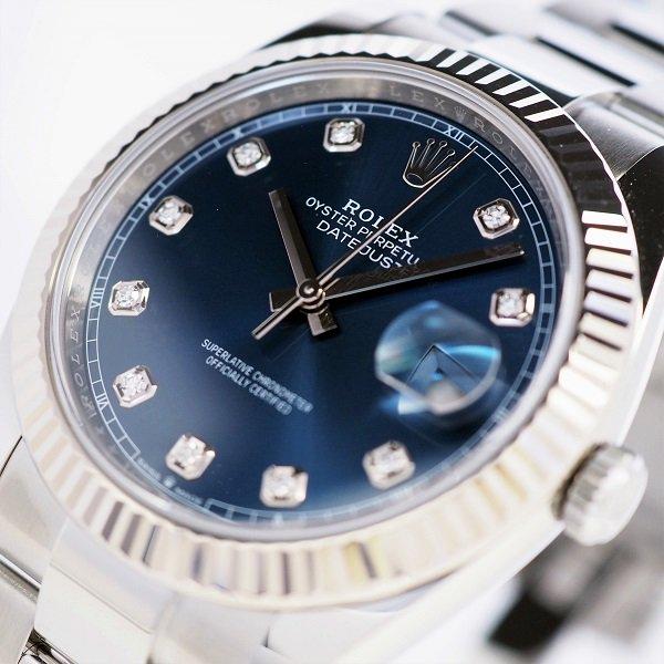 【中古】 ROLEX(ロレックス) デイトジャスト 41 ブルー 10Pダイヤ ランダム品番 126334G