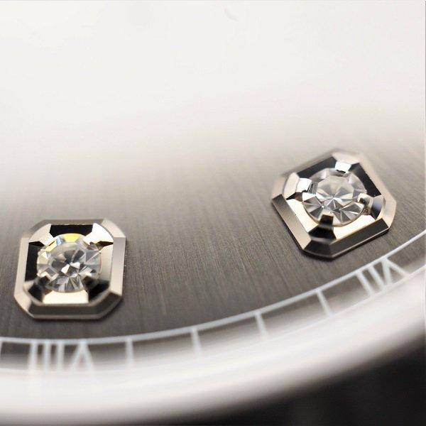 【中古】 ROLEX(ロレックス) デイトジャスト 41 グレー 10Pダイヤ ランダム品番 126334G
