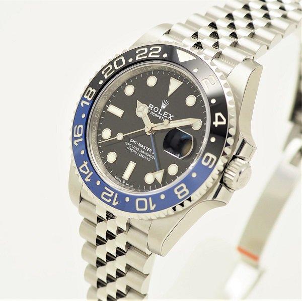 【新品】【国際保証書2021年7月】【シール付】ROLEX(ロレックス) GMTマスターII ブラック 青×黒ベゼル ジュビリーブレス 126710BLNR