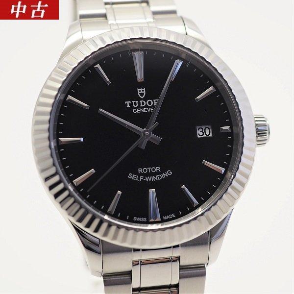 【中古】【国際保証書2021年5月】TUDOR(チューダー)スタイル ブラックバー文字盤 12510
