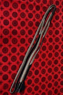 帯締めと昔着物の柄帯揚げ・半衿セット(赤と黒ロマンチカ)