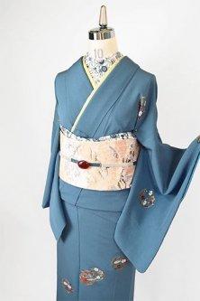付下げ着物セット(花庭花刺繍)
