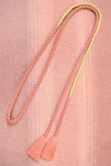 帯締めと昔着物の柄帯揚げ・半衿セット(マーブル・ローズ)