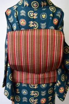夢二好みの彩縞紬の洒落袋
