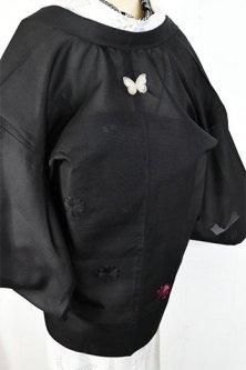 蝶々洒落紋モダン薄羽織(刺繍かたばみ)