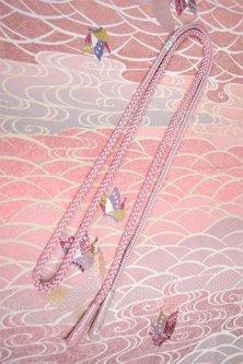 帯締めと昔着物の柄帯揚げ・半衿セット(蝶々夢物語)