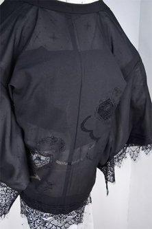 レースデコレーション・リメイク薄羽織(ヨーロピアン刺繍レース)