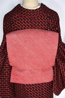 紅色鹿の子総絞り美しい京袋帯