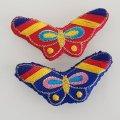 ノリゲ用ミシン刺繍の飾り 2色セット