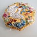 ノリゲ用手刺繍の飾り(鶴)大