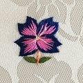 手刺繍のパーツ31 青い花