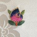 手刺繍のパーツ32  丸い花