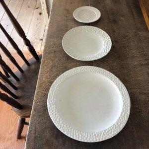 白結晶水玉リム豆皿