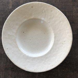 変形皿 白