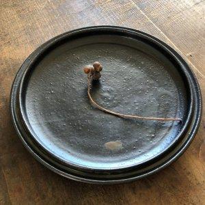 黒マットリム深皿