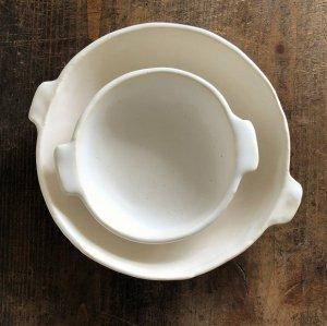 グラタン皿丸 白