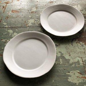 白磁マット リム皿20�