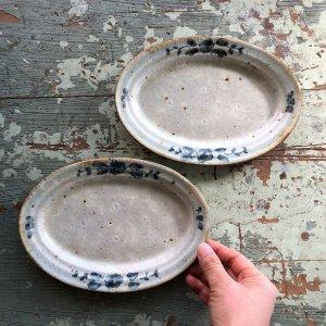 安南手楕円皿�