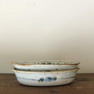 安南手楕円鉢�