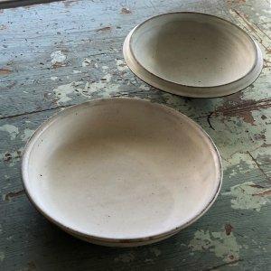 粉引マット7.5寸平鉢