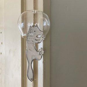 ガラスの風鈴 オオカミ大