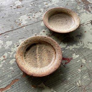 ヒビ粉引皿10�