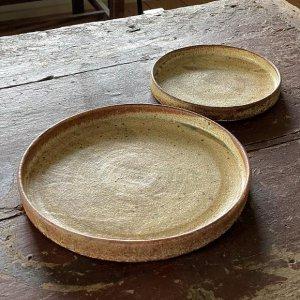 ひび粉引平皿 8寸