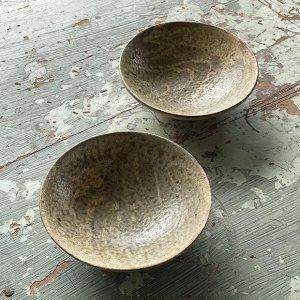 ヒビ粉引5寸鉢