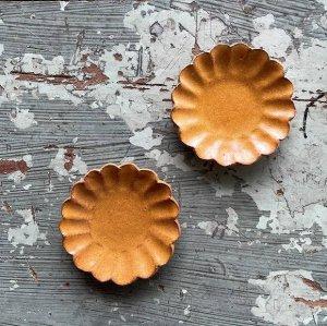 淡黄輪花豆皿