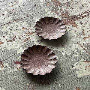 ブロンズ輪花豆皿