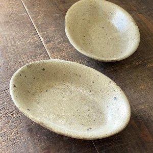 粉引オーバル鉢