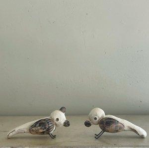 鳥のオブジェ 2色 白井隆仁