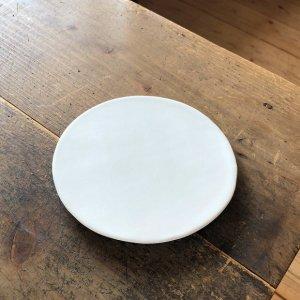 白磁マットプレート丸