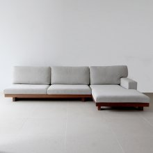 Danish 3P sofa / one arm couch