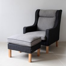 <img class='new_mark_img1' src='//img.shop-pro.jp/img/new/icons20.gif' style='border:none;display:inline;margin:0px;padding:0px;width:auto;' />Owl High  Back Chair + Ottoman