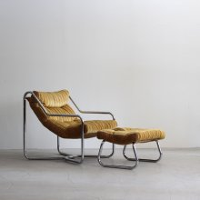 Vintage Easy chair + Ottoman / Milo Baughman, Sling Unarco