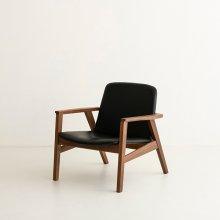 Ann|Lounge chair Walnut