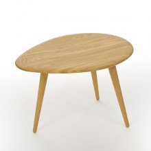Egg shape coffee table  / Oak
