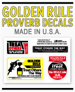 GOLDEN RULE DECAL SHEET