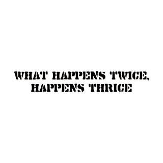 二度ある事は三度ある | コトワザ ステンシル 転写ステッカー | PST001